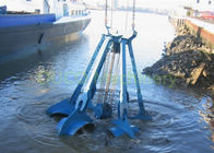 Marine Orange Peel Bucket  Vessel Deck Under Water For Loading Cargoes