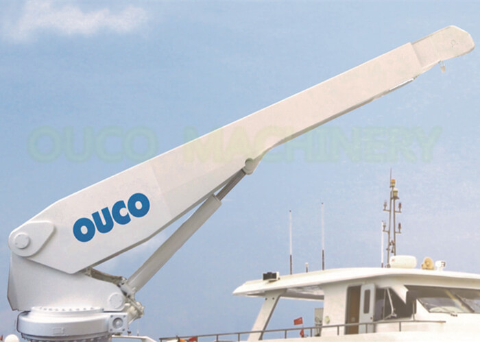 Yacht  1T 4M Telescopic Boom Crane , Small Boat Crane CCS ABS BV Certified